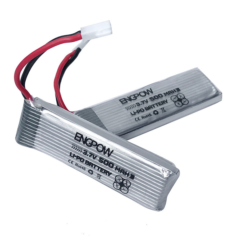 Best seller  2 3.7V 500mAh Li-Polymer Battery For JJRC H37 RC Quadcopter  High Quality  Wholesale