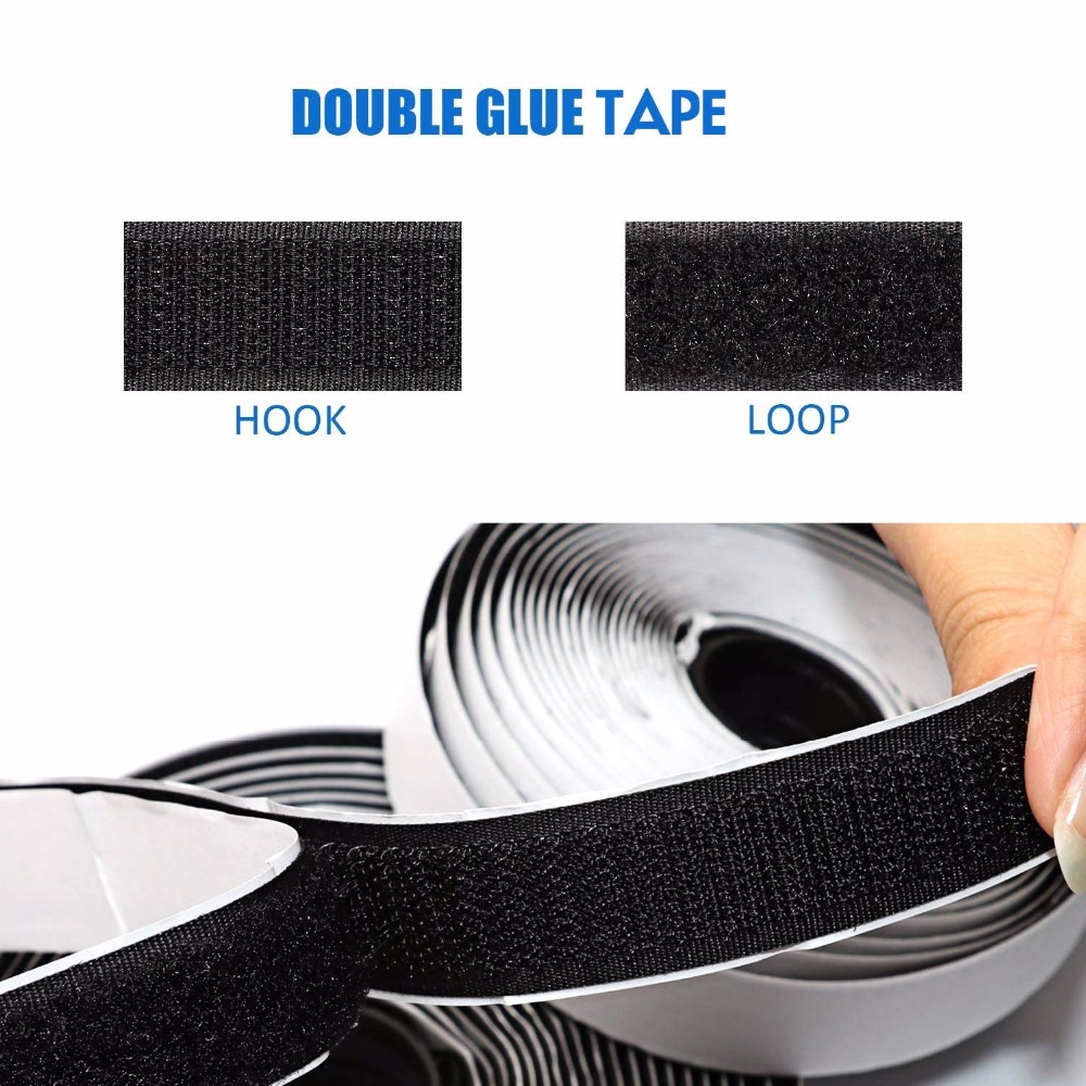 10M*2 Hook and Loop Fastener Tape, Self Adhesive Sticky Tape, Heavy Duty Hook Loop Tape Reusable Double Sided Sticky Tape