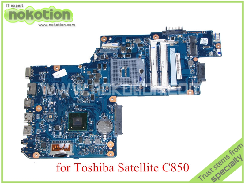 NOKOTION H000050950 for toshiba satellite C850 laptop motherboard 15'' HM77 HD4000 Graphics DDR3 100%test dabl5mmb6e0 a000034760 for toshiba satellite p300 p350 laptop motherboard pm45 ddr2 with graphics slot