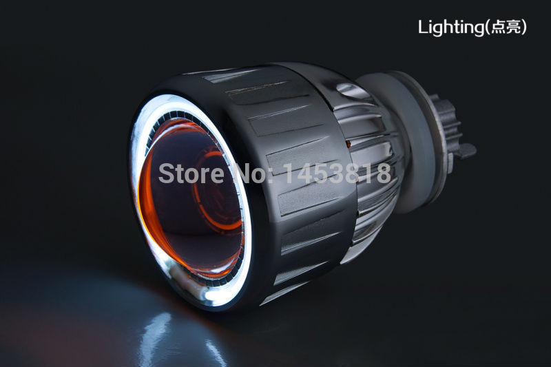 2GC Aluminium Alloy Housing CCFL Angel Eye 35w 2.5'' inch Auto H1 H4 H7 HID Projector Lens 4300k 5000k 6000k 8000k