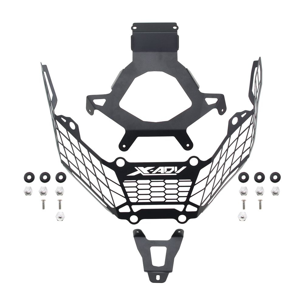 Stainless Steel Headlight Protection Cover Grille Guard For X-adv 750 Xadv750 2017-2018