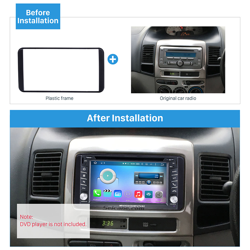 Seicane Двойной Дин Радио Фасции Аудио плеер отделка комплект для 2006 Toyota Camry VIOS COROLLA пожеланий altis 4500 Панель тарелка