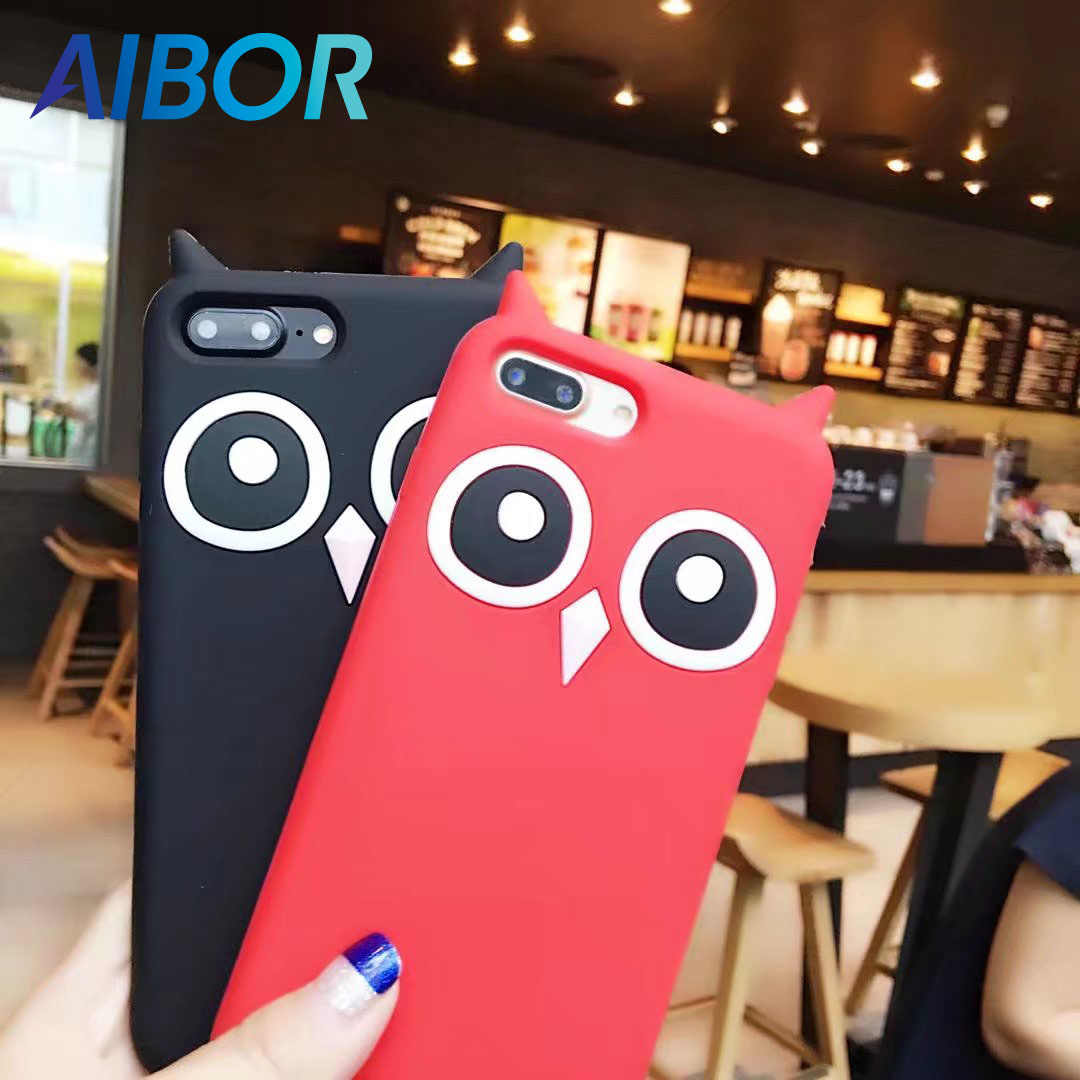 81a121504c Detail Feedback Questions about AIBOR Fashion 3D cute OWL bird cartoon OWL  Ears soft silicone case For iphone 8 7plus 5 5s se 6 6s plus rubber Coque  back ...