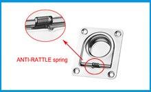 BEST MATEL Satinless steel 304 ANTI-RATTLE spring Flush Lift Ring Deck Hatch Pull Handle Locker Cabinet boat hardware