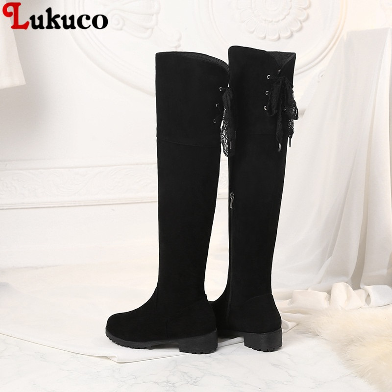 New Warm Botas Snow Boot Round Toe Winter Shoes Large Size 40 41 42 43 44 45 46 47 48 High Quality Handmade Footwear Shoes Woman 2017 female warm snow boots large size 41 cotton winter shoe for woman soft comfortable outdoor footwear high quality