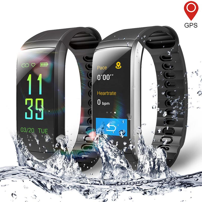 KR02 IP68 Waterproof Smart Watch Men Women GPS Fitness Bracelet Smart Band Heart Rate Monitor Running Watches Activity Tracker