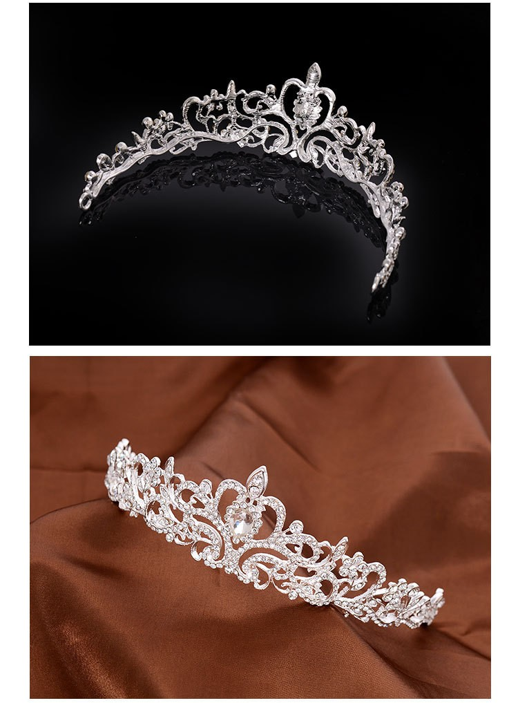 HTB1gbgBLXXXXXchXVXXq6xXFXXX1 Magnificent Bridal Prom Pageant Crystal Inlaid Queen Tiara Crown - 2 Styles