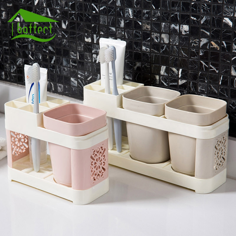. US  6 4 26  OFF New Bathroom Toothbrush Cup Toothpaste Toothbrush Holder  Suits Bath Set Creative Wash Cup Brush Cup Family Bathroom Tools in  Bathroom