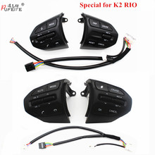 Bouton de volant PUFEITE pour KIA K2 RIO 2017 2018 RIO X boutons de ligne Bluetooth téléphone régulateur de vitesse commutateur de Volume