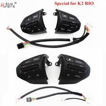 Pulsante volante PUFEITE per KIA K2 RIO 2017 2018 pulsanti RIO X LINE telefono Bluetooth interruttore Volume controllo velocità di crociera