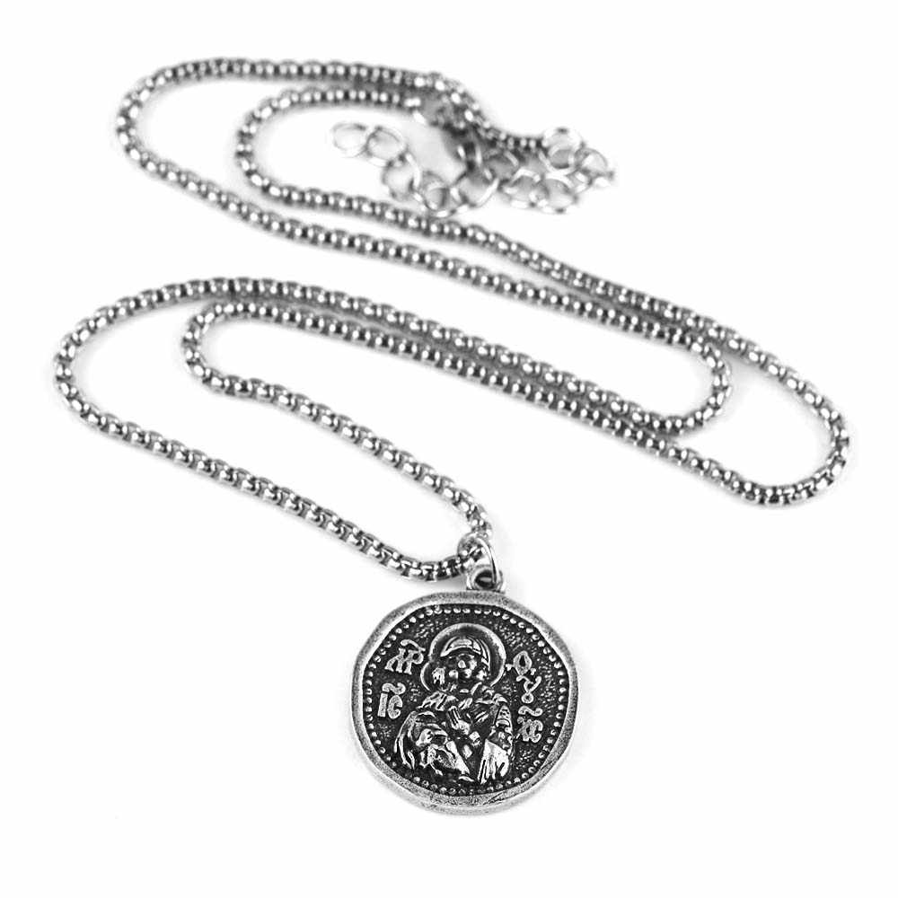 Masterpiece Orthodox Necklace Medal Patron Vladmir Pendant Greek Medallion Jewelry Dropship