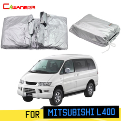 Cawanerl Full Car Cover Outdoor Sun Anti-UV Rain Snow Dust Protection MPV Cover Windproof For Mitsubishi L400 1994-2007