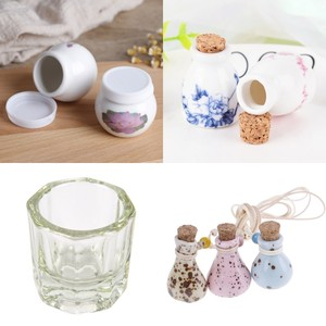 Ceramic Glass Liquid Glass Powder Dappen Dish Crystal Glass Cup For Acrylic Nail Art Clear White Color Transparent Kit 7 Style