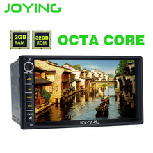 "JOYING 2GB RAM Android 6.0 2 Din Tape recorder Stereo HD 7"" GPS Player BT Car Radio Octa 8 Core Headunit support apple-carplay"