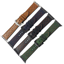ZLIMSN Genuine Leather for apple Watchband 42mm 38mm
