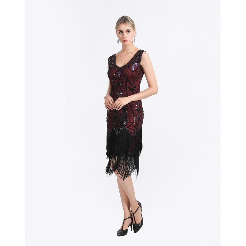 Women 1920s Flapper Dress Gatsby Vintage Plus Size Roaring 20s Cos...