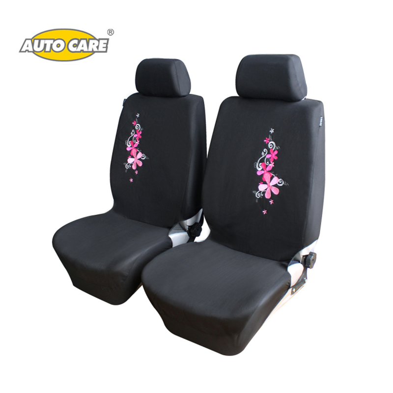 цена на Flower Embroidery Pink Car Seat Covers for Front Seat ONLY Universal Fit Car Seat Protector Interior Auto Accessories For Women