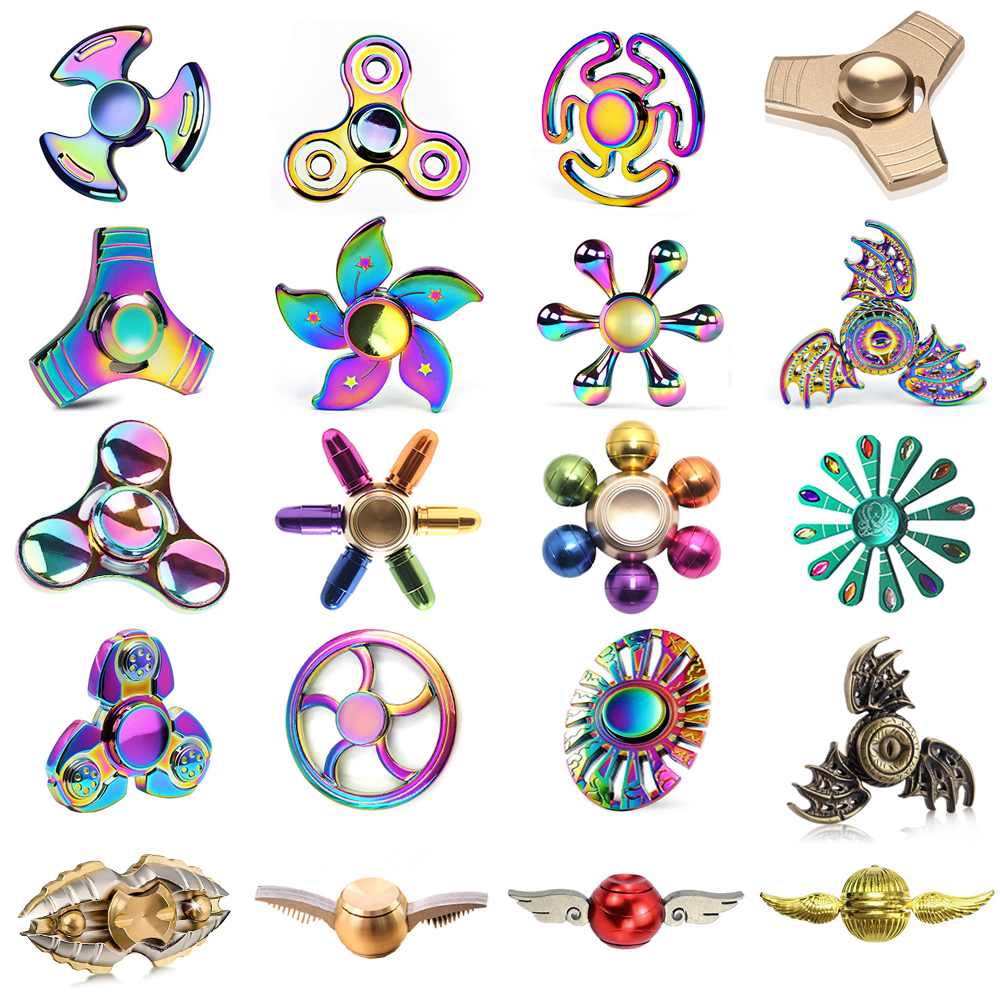 Hot Rainbow Harry Potter Fans Fidget Spinner Metal Tri Spinners Hand Figet Finger Spiner Toys for Anti stress Children Kid Gift top rainbow fidget spinner hand metal tri spinner anti stress toys figet spinner stres carki finger spiner fidget skinner 30