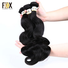 FDX 3 bundles deal Cambodian hair body wave bundles remy 3pcs lot human hair weave(China)