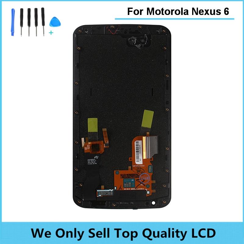 LCD Screen for Motorola Moto Nexus 6 XT1100 XT1103 LCD Display Touch Screen with Frame Digitizer Assembly Free Shipping + Tools аксессуар aopen vga 15m vga 15m 3m 2 фильтра acg341ad 3m
