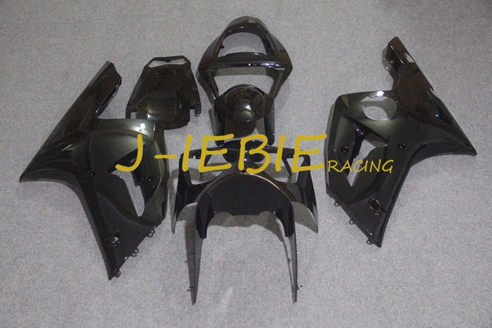 Black Injection Fairing Body Work Frame Kit for Kawasaki NINJA ZX6R ZX6 ZX 6 R 2003 2004