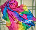 Large shaded color 100% Silk scarf Shawl Wrap SCARF 180*110cm SOFT 5pcs/lot #3036