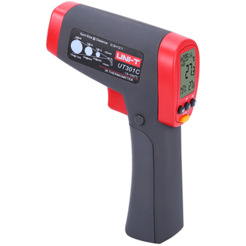 UNI-T Pyrometer infrared UT301A UT301C Laser infrared ir thermometer gun -18~550 Celsius Handheld non-contact IR thermometer az 8838 handheld gun safety ir infrared food thermometer