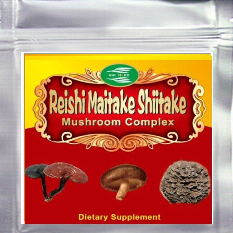 300gram Top3 Blend Mushroom (Maitake+Reishi+Shiitake) 50% Polysaccharide Powder Free shipping300gram Top3 Blend Mushroom (Maitake+Reishi+Shiitake) 50% Polysaccharide Powder Free shipping