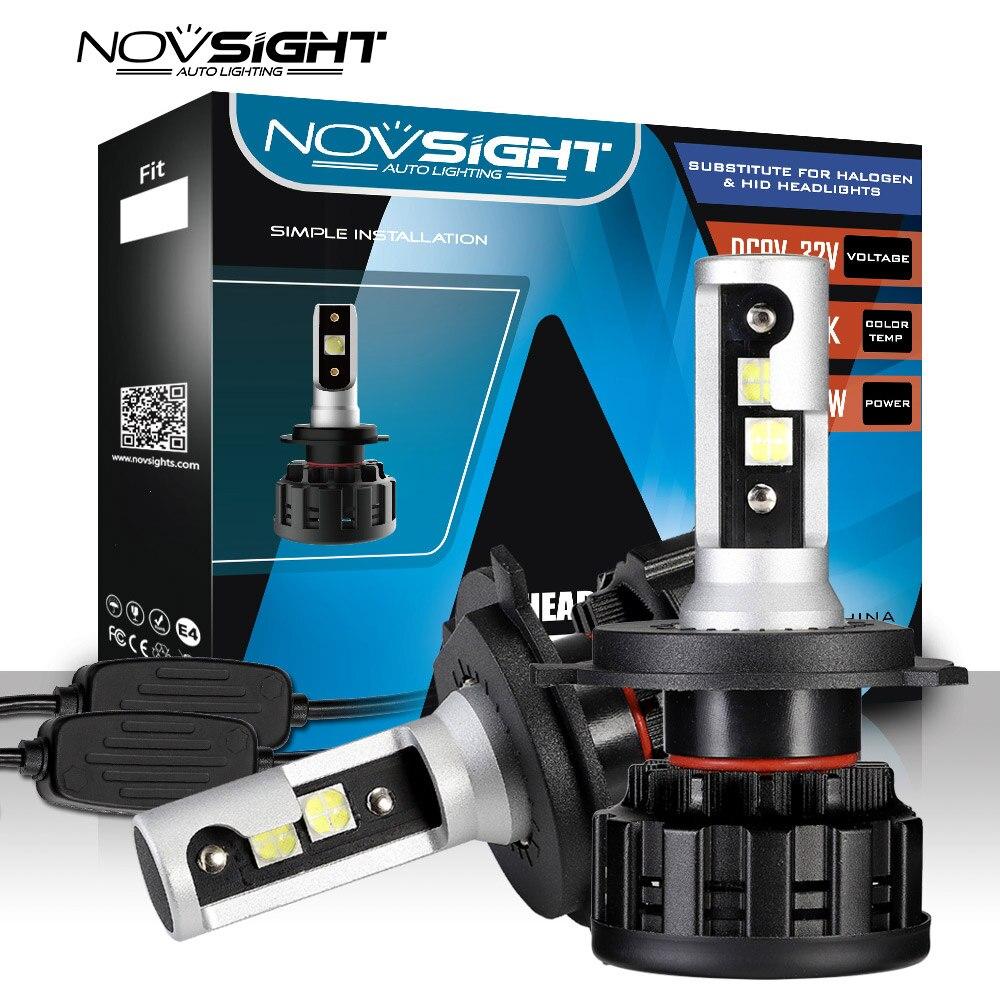 NOVSIGHT Super small LED headlight bulbs H4 LED H1 H7 H11 H8 9005 9006 60W 16000LM