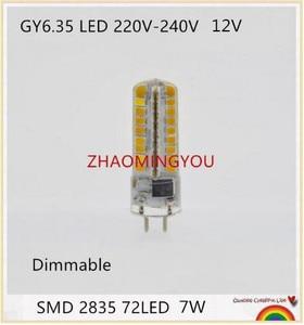 YOU GY6.35 LED Lamps 7W 12V 220V LED Corn Light Bulb Droplight Chandelier 2835SMD G6.35 Led Bombillas White/Warm white Lamp(China)