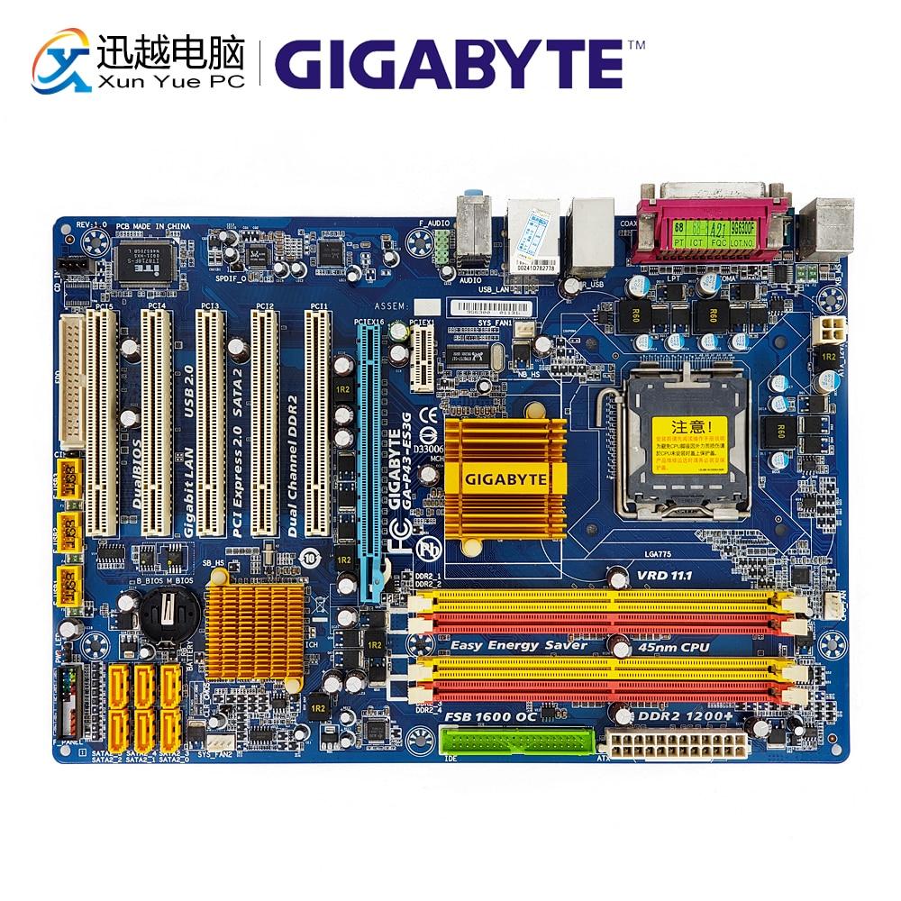 Gigabyte Desktop Mainboard P43-Socket Lga 775 2-Ddr2 Core ATX Used for 16G Original REV
