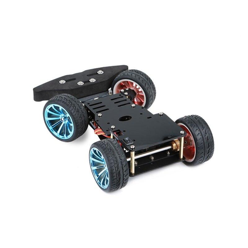 2018 4WD RC voiture intelligente châssis S3003 métal Servo roulement Kit pour Arduino métal engrenage moteur 25 MM Robot plate-forme Robot à monter soi-même