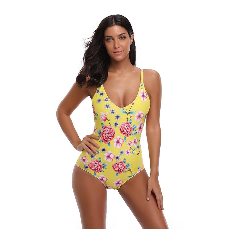 YCDKK Sexy Bikinis Women Swimsuit 2018 Swimwear Retro Vintage Bathing Suit Low Waist Beach Wear Sexy One Piece Swimsuit Female