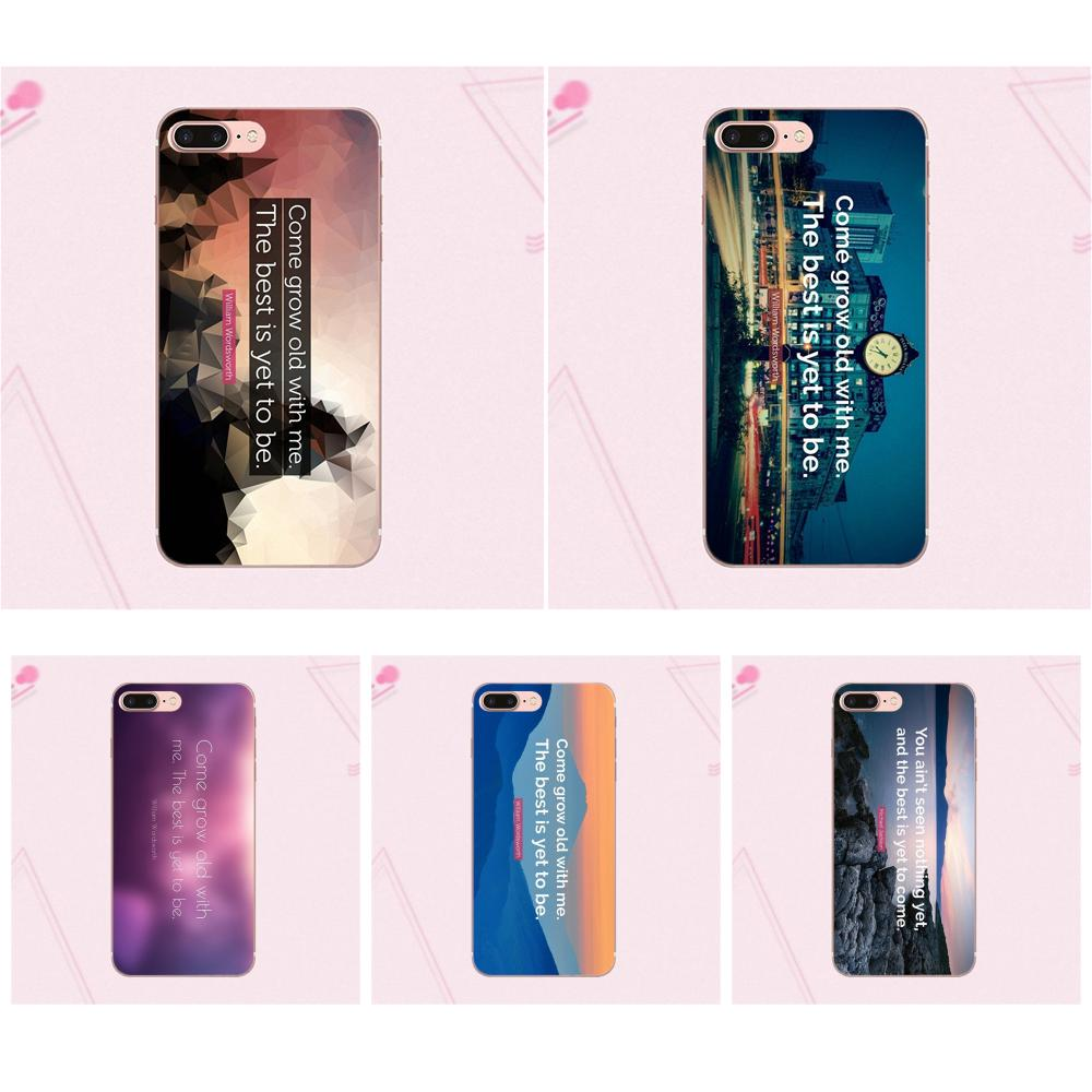 For Galaxy Grand A3 A5 A7 A8 A9 A9S On5 On7 Plus Pro Star 2015 2016 2017 2018 Tpu Phone Case The Best Has Yet To Come Life Quote image