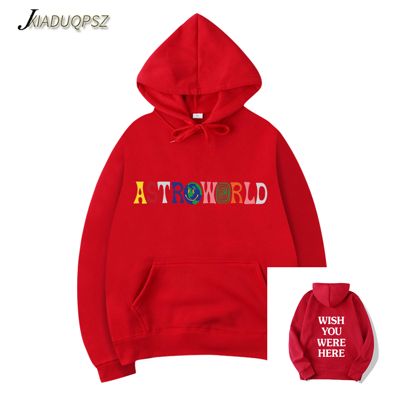 2114f1ba43f5 [HOT DEAL] US $18.32 for New TRAVIS SCOTT ASTROWORLD WISH YOU WERE HERE  HOODIES fashion letter ASTROWORLD HOODIE streetwear Man/woman Pullover  Sweatshirt