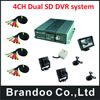 4 Channel CAR DVR Kit With Russian Menu 2 Camera With Audio 4 3inch Car Monitor