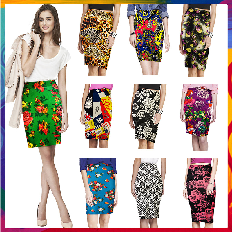 Aliexpress.com : Buy Yomsong Pencil Skirt Floral Printing ...