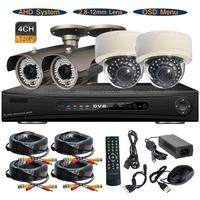 4CH 720P AHD Realtime DVR System Dome Bullet 1 0MP 2 8 12mm Lens OSD CCTV