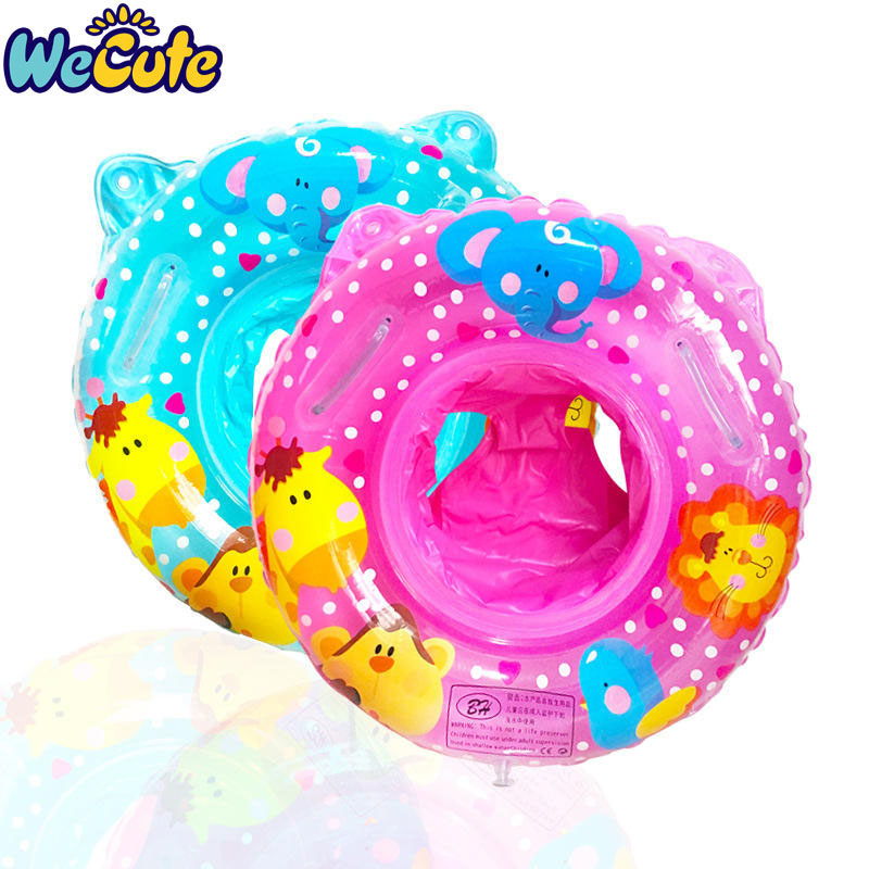 Wecute Baby Swimming Ring Cartoon Kids Swim Seat With Handle For 1-4Y Inflatable Water Toys Swim Circle For Kids Swim