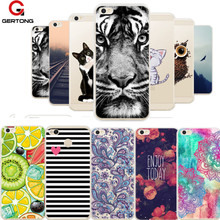 GerTong Case For Xiaomi Redmi 4A 4X Note 4 Global 3S Soft TPU Pattern Cover for Xiaomi Mi6 Plus Mi5s Max Mix Back Cover Fundas