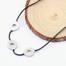 Naruto Akatsuki Uchiha Titanium Steel Itachi Cosplay 3 Loops Necklace