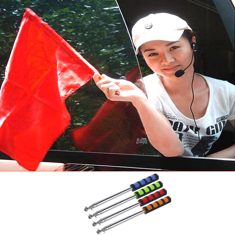 1 2m 2m 2 5 Meters Flagpoles Telescoping Telescopic Flag Pole for Teaching Pointer Tour Guide Banner Flagstaff Random Color in Flags Banners Accessories from Home Garden