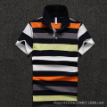 Men Polo Shirt 2016 New Men's Short Sleeve Polo Shirt Yellow Stripe Cotton Polo Homme Shirt D1646