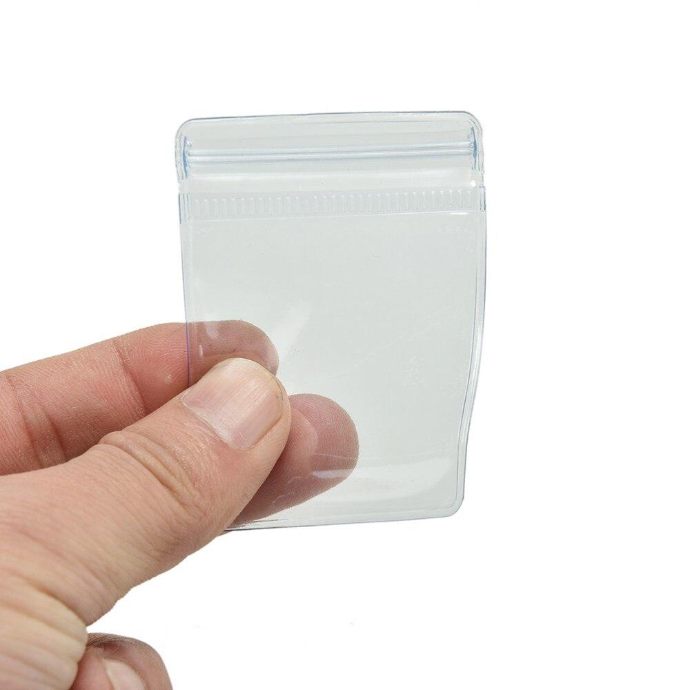 100 Pçs/lote Caso Saco Da Moeda Carteiras De Armazenamento de Plástico Transparente De PVC Envelopes Embalagem Sacos 70x50mm Atacado