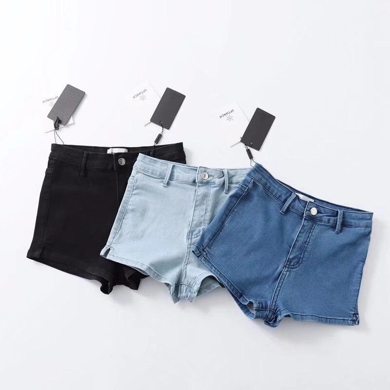 Women High Waist Denim Shorts Stretch Tight Sexy Hem Split   Jeans   Shorts Summer Soft Thin Shorts girl hot short