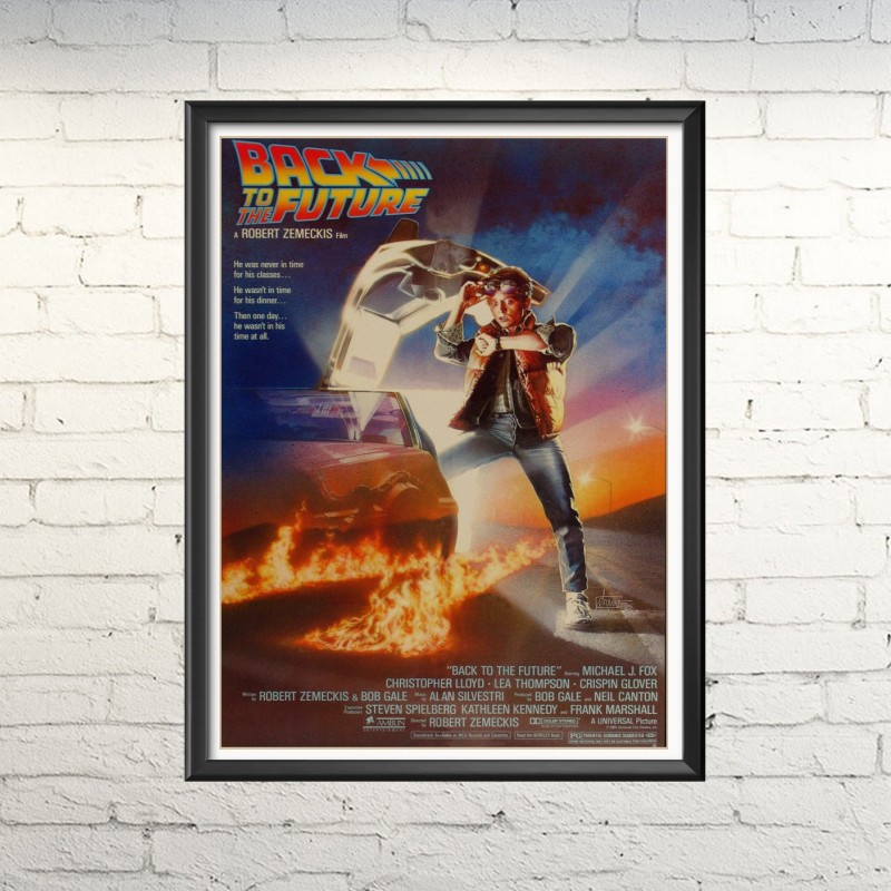 Family bedroom, study, retro decorative painting, movie poster back to future series