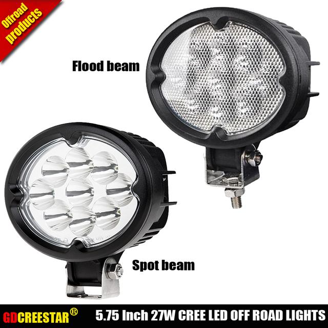 27W Oval Led Tractor lights Flood Spot Beam 12V 24V led offroad lights 9leds used for John Deere New Holland x1pc free shipping
