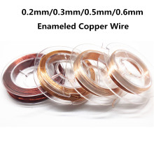 10Meter Magnet Wire 0.2mm 0.3mm 0.5mm 0.6mm Enameled Copper Wire Magnetic Coil Winding For Making Electromagnet Motor Model DIY(China)