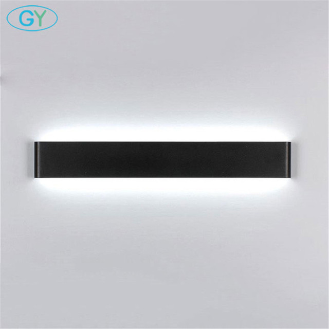 110V 220V Led Lamp Wall Mounted Light Black White Wall Lights Background  Mirror Stairs Corridor Aisle