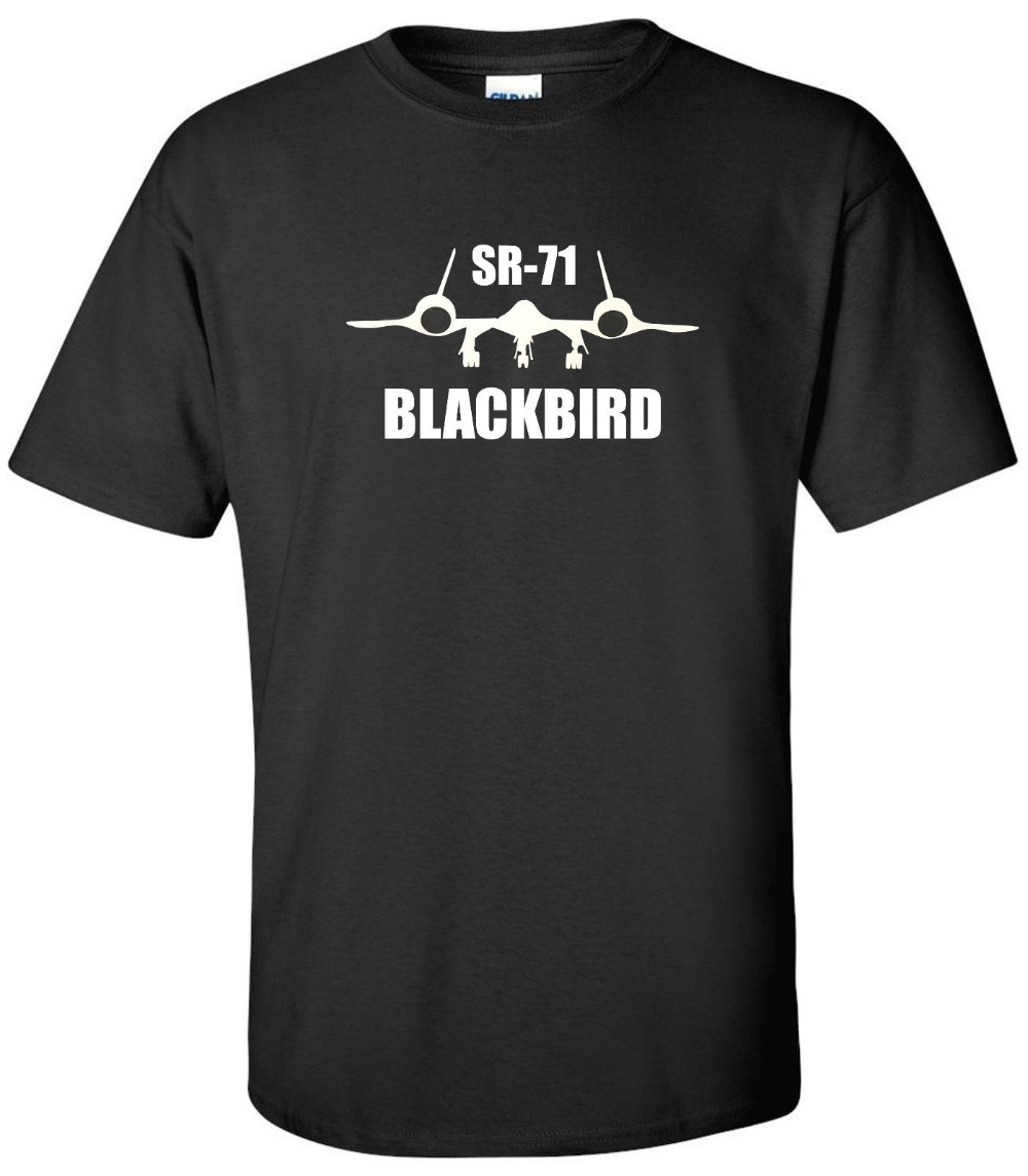 Sr-71 Blackbird T-<font><b>Shirt</b></font> Sr71 Air Force Military Usa <font><b>Usaf</b></font> Pilot Patriotic <font><b>Shirt</b></font> Brand Man 2019 New Brand New Printed T <font><b>Shirts</b></font> image